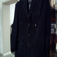 Palton velur Italia - Palton barbati, Marime: XL, Culoare: Negru