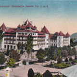 CARTE POSTALA Baile Calimanesti - Hotelurile Jeante Nr.1 si 2 - Carte Postala Oltenia dupa 1918, Circulata, Printata