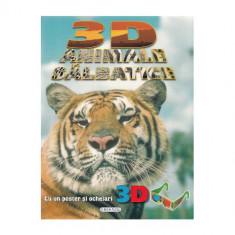 3D Animale Salbatice - Carte de colorat