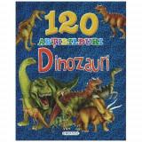 120 Abtibilduri Dinozauri - Carte de colorat