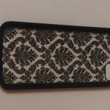 Carcasa, husa iPhone 5C – protectie telefon – model floral - accesorii GSM - Husa Telefon, Negru, Plastic, Fara snur