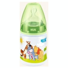 Biberon din polipropilena cu tetina din silicon Nuk First Choice Disney Winnie th Pooh 150ml 0-6 luni 743652V