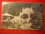 Ilustrata Herculane - Sanatoriul  1920,circulatie mixta ferdinand si Carol I, Circulata, Printata
