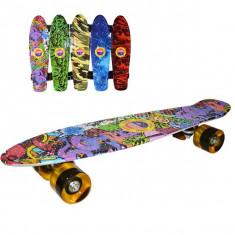 Placa skateboard Grafitti roti silicon