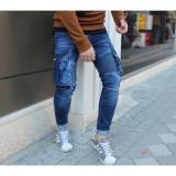 Blugi fashion - blugi barbati - blugi conici - COLECTIE NOUA - 7718 H1