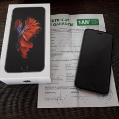 IPhone 6S ** full box - garantie pana 5/2018 ** - Telefon iPhone Apple, Gri, 16GB, Neblocat