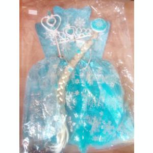 Costum  Elsa Frozen  Fustita 2-5 ani