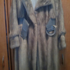 Haina lunga din blana naturala vizon - haina de blana