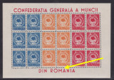 1947 - CGM - in bloc de sase serii -  minicoala -  EROARE - MNH