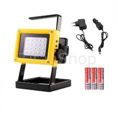 Proiector LED cu Acumulator 10W 650lm - Corp de iluminat, Proiectoare