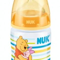 Biberon din polipropilena cu tetina din silicon Nuk First Choice Disney Winnie th Pooh 150ml 0-6 luni 743374