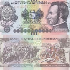 Honduras 5 Lempiras 01.03.2012 UNC - bancnota america