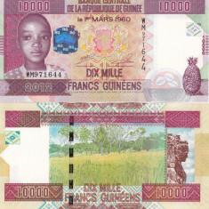 Guinea 10 000 Francs 2012 UNC