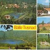 CARTE POSTALA TUSNAD BAI 2, 1973 - Carte Postala Transilvania dupa 1918, Circulata, Fotografie