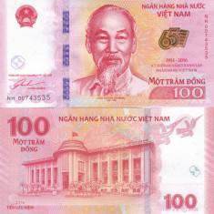 Vietnam 100 Dong 2016 Comemorativa UNC - bancnota asia