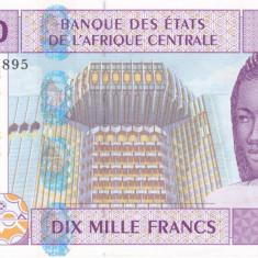 Africa de est 10 000 Francs 2002 (Gabon) UNC - bancnota africa