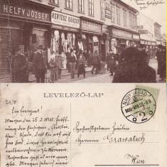 Oradea -iudaica, animata - Carte Postala Crisana 1904-1918, Circulata, Printata