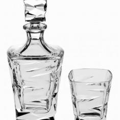 Set Whisky 6 pahare si Sticla Zig Zag - Cristal Bohemia