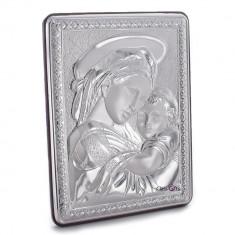 Maica Domnului si Pruncul, Foita de Argint, 15X18cm, Cod Produs:842
