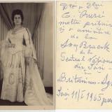 Fotografie cu dedicatie Anny Braeski, actrita Teatrul National Iasi