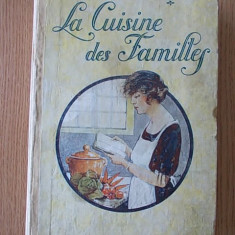 LA CUISINE DES FAMILLES- BARON BRISSE- carte de bucate 1926