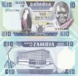 Zambia 10 Kwacha 1988 UNC