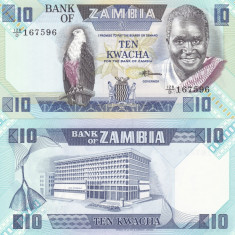 Zambia 10 Kwacha 1988 UNC - bancnota africa