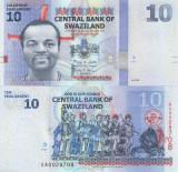 !!!  SWAZILAND  -  10  EMALANGENI  2010   - P 36 a  - UNC