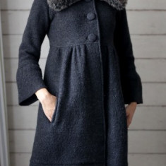 Palton Zara din lana - S - Palton dama, Marime: XS/S, Culoare: Gri