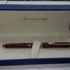 Stilou Altele Waterman Gentleman ( Ideal ) Tobacco Brown cu penita de aur 18k la cutie, Cu patron