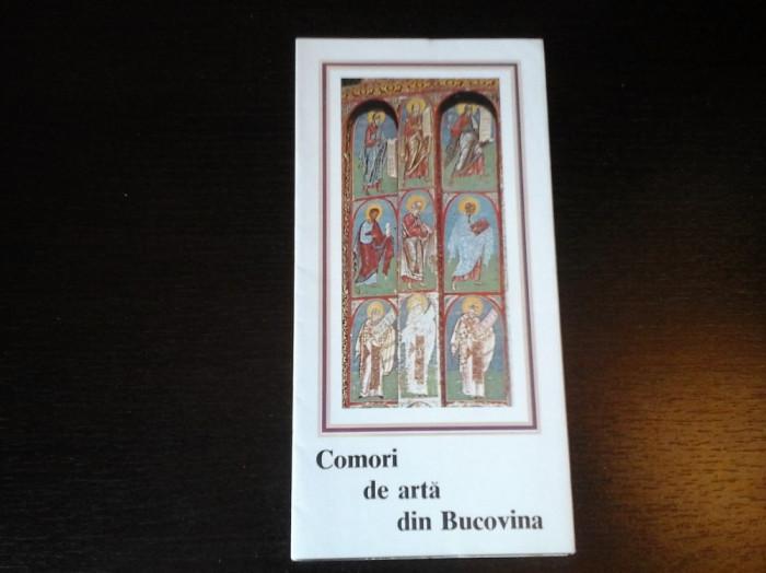 Comori de arta din Bucovina - Pliant turistic in limba romana, cu harta