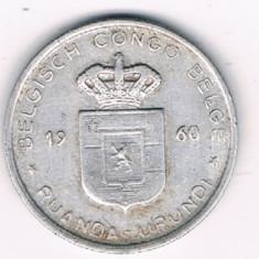 Moneda 1 franc 1960 - Congo Belgian, Africa