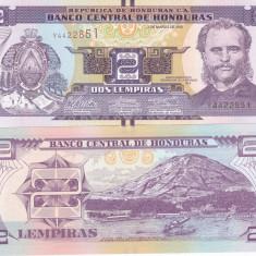 Honduras 2 Lempiras 01.03.2012 UNC - bancnota america