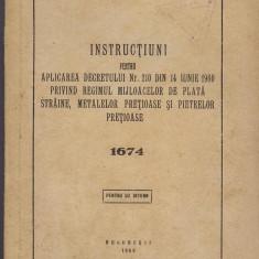 Decretul 210 din 14 iunie 1960 Banca de stat a RPR, UZ INTERN, Bucuresti 1960 - Carte Drept bancar