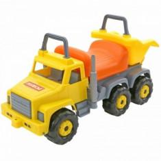 Ride-on camion Supergigant Gri cu portocaliu Polesie