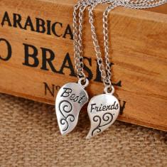Pandantiv / Colier / Lantisor - Best Friends - In forma de Inima - Pandantiv fashion