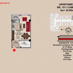Garsoniera Brasov - Tractorul - Garsoniera de vanzare, 35 mp, An constructie: 2017, Etajul 1