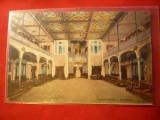 Ilustrata Herculane  Salon Cazino-,circulat 1934 Ed. V. Kiszany, Circulata, Printata