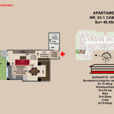 Garsoniera Brasov, suprafata de 40.45mp - Garsoniera de vanzare, An constructie: 2017, Parter