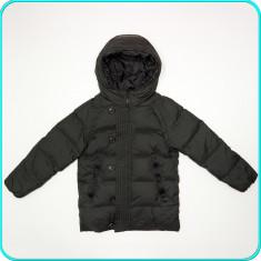 DE FIRMA → Geaca iarna calduroasa, puf+pene ZARA → baieti | 7-8 ani | 128 cm, Marime: Alta, Culoare: Negru
