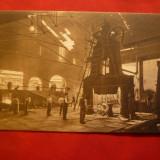 Ilustrata Resita - Forja de Bandaje, interbelica, Ed.Bruder Deutch Resita - Carte Postala Banat dupa 1918, Necirculata, Printata