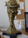 Statueta de bronz -Isus -artist francez  Claude Darques