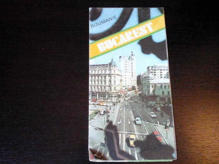 Bucuresti - Pliant turistic in limba franceza, Ministerul Turismului, 1985