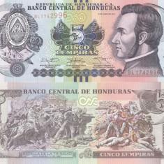 Honduras 5 Lempiras 12.07.2014 UNC - bancnota america