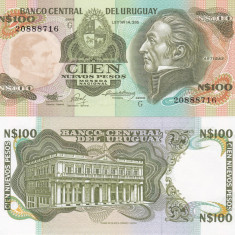 Uruguay 1987 100 New Pesos UNC