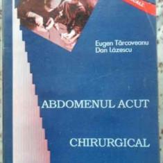 Abdomenul Acut Chirurgical - Eugen Targoveanu, Dan Lazescu, 402530 - Carte Chirurgie