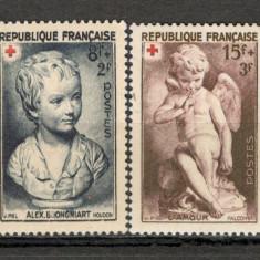 Franta.1950 Crucea Rosie-Sculptura XF.195, Nestampilat