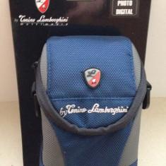 Husa aparat foto digital - Tanino Lamborghini (Model 2202 - Blue), Albastru