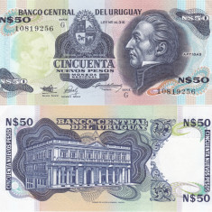 Uruguay 1987  50 New Pesos UNC