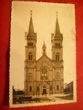 Ilustrata Timisoara -Biserica Romano-Catolica  stamp. rotunda cu M si cu 27-1939, Circulata, Printata